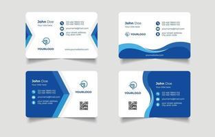 plantilla de tarjeta de visita creativa azul vector