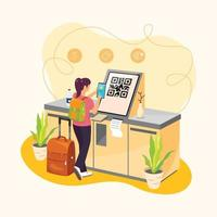 Contactless Buying Ticket Concept vector