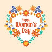 Women's day Background with Colorful Flowers
