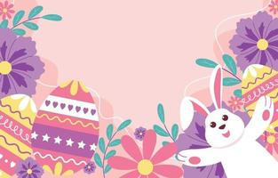 Easter Festivity Colorful Background vector
