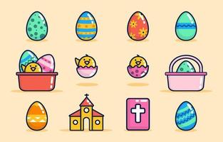 Easter Icon Collection vector