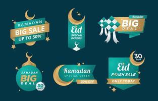 Eid Marketing Label Template vector
