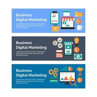 Business and Digital Marketing Banner Collection vector