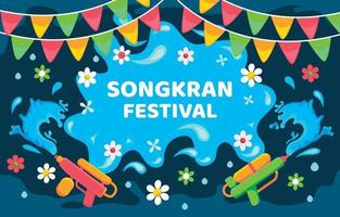Songkran Festival Background vector