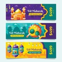 Eid Voucher Template Collection vector