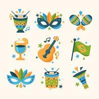 Rio Carnival Brazilian Festival Element Collection vector