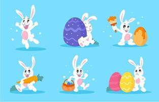 Adorable Easter Bunny Collection vector