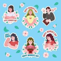 Women's Day Activism Sticker Pack vector