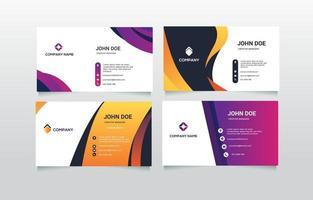 colección de tarjetas de presentación comercial vector