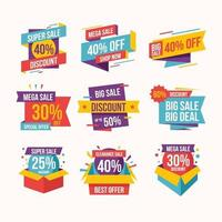 Colorful Discount Stickers vector