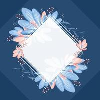 Winter to Spring Floral Background vector