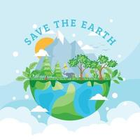 Save Our Planet Earth vector
