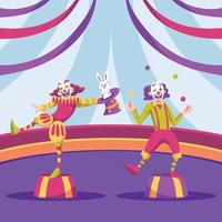 Circus Show Clowns Background vector
