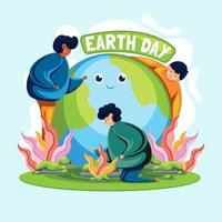 Earth Day Illustration vector