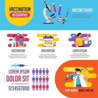 Vaccine Infographic Template Design vector