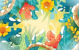 Spring Season Background vector