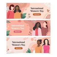 colección de pancartas del día internacional de la mujer vector