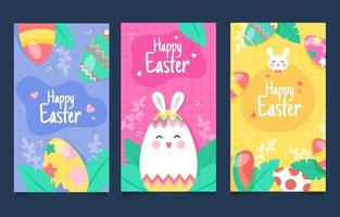 Happy Easter Day Banner Collection vector