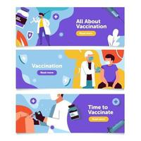 vaccine banner collection