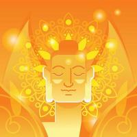 Budha Concept in Orange and Yellow Glow vector