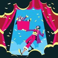 Clown Show Illustration vector
