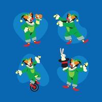 Clown Characer Set vector