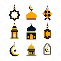 Eid Mubarak Icon Set vector