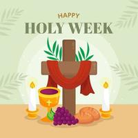 The Calmness of Holy Saturday vector
