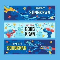 Banner For Songkran Festival vector