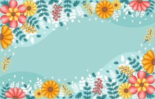 Colourful and Beautiful Spring Floral Background vector