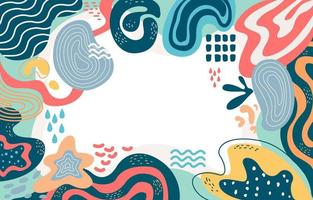 Variedad de formas lindas de fondo abstracto vector