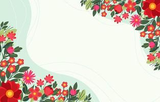 Spring Floral with Green Background vector