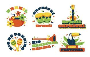 Rio Festival Festivity Label vector