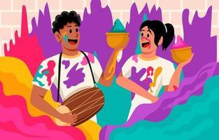 Happy Holi Festival vector