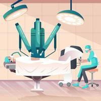 cirugía de robot médico vector