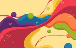 fondo colorido de forma fluida vector