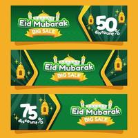 Eid Mubarak Big Sale vector
