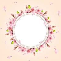 Realistic Cherry Blossom Illustration vector