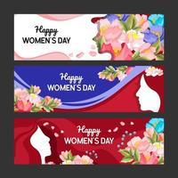 Women Day Banner Set Template vector