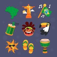 Festivity Icon of Brasil Rio Carnival vector