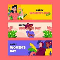 Women's Day Banner Set vector