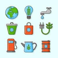 Go Green and Organic Icons vector