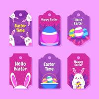 Cute Easter Gift Tag vector