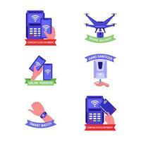 Sticker Contactless Technology vector