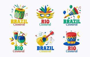 insignia de carnaval de río de color vector