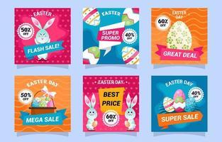 Easter Day Marketing Promotion Social Media Post vector