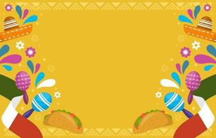 Colorful Cinco De Mayo Festivity Background vector