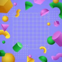 Floating 3D Geometric Shapes Background