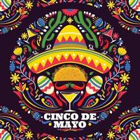 Cinco De Mayo with Colorful Background