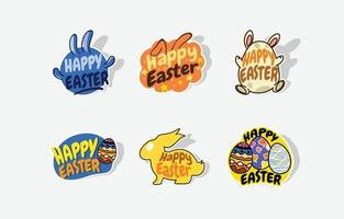 Happy Easter Day Sticker vector